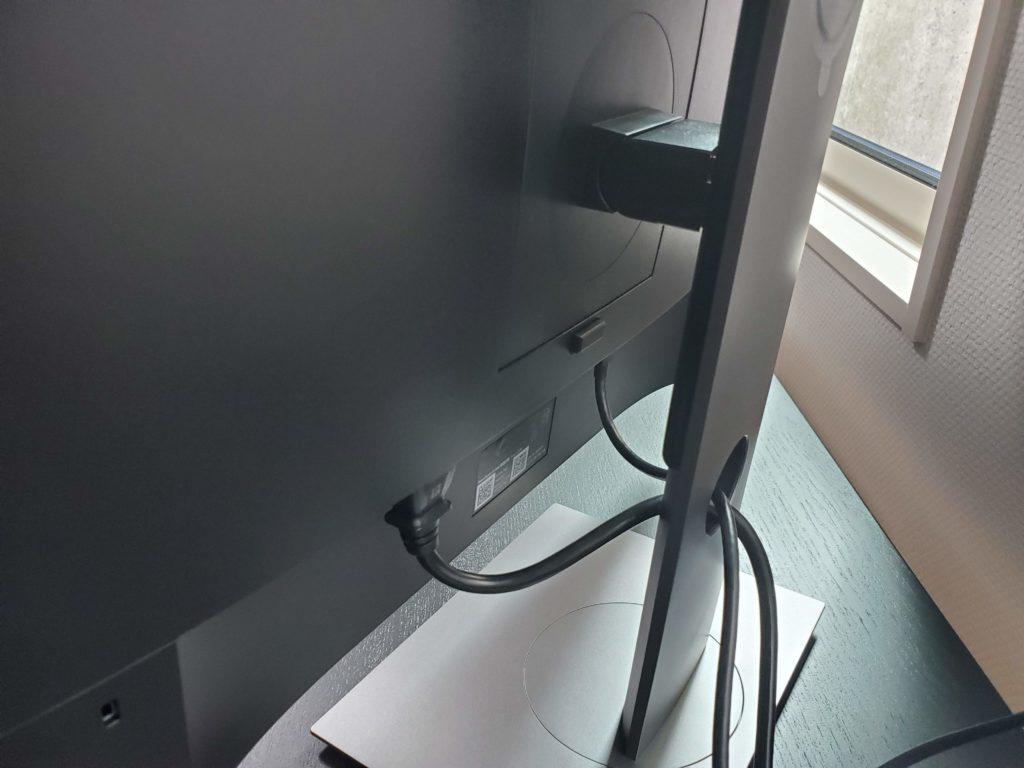 Dell P2419HCスタンドとケーブル